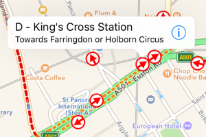 London Bus Stops on iPhone